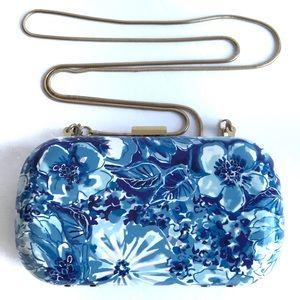 Lily Pulitzer Blue Floral Clutch Crossbody MiniBag